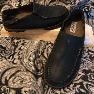 OluKai Moloa Black Loafers 11 M